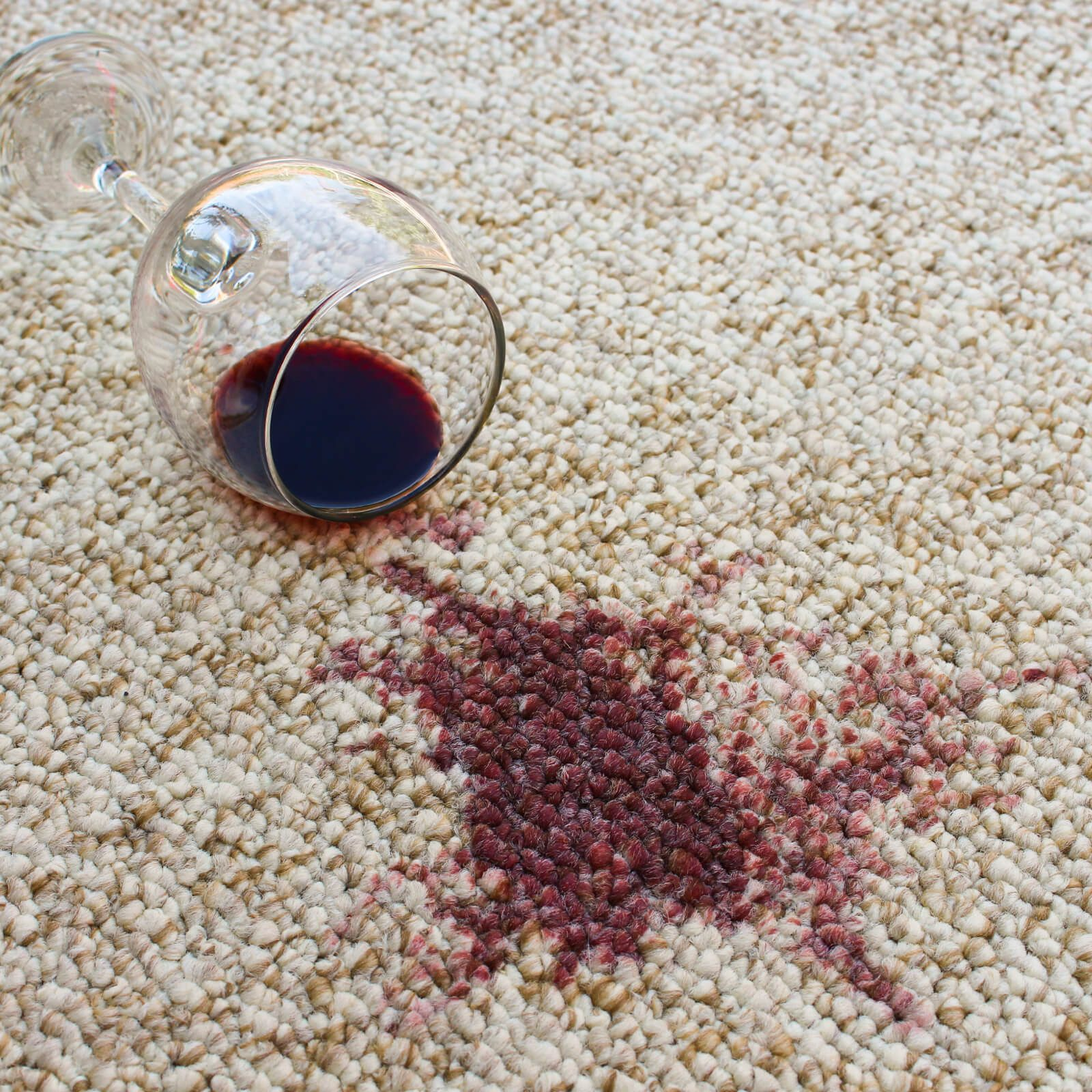 Carpet wine stain | Budget Flooring, Inc.