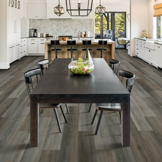Laminate flooring in dining room | Budget Flooring, Inc.