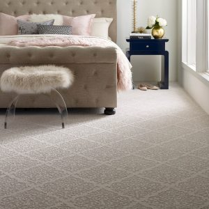 Designed Carpet in bedroom | Budget Flooring, Inc.