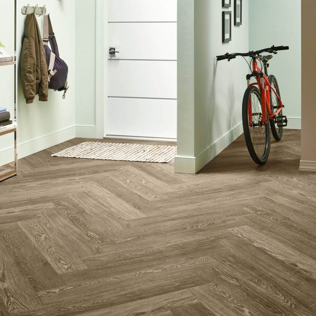 Bicycle on flooring | Budget Flooring, Inc.