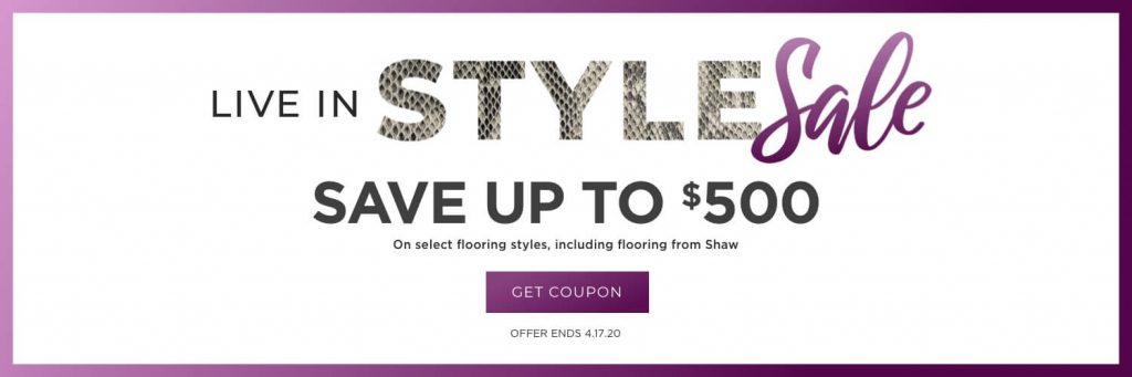 Live in style sale banner | Budget Flooring, Inc.